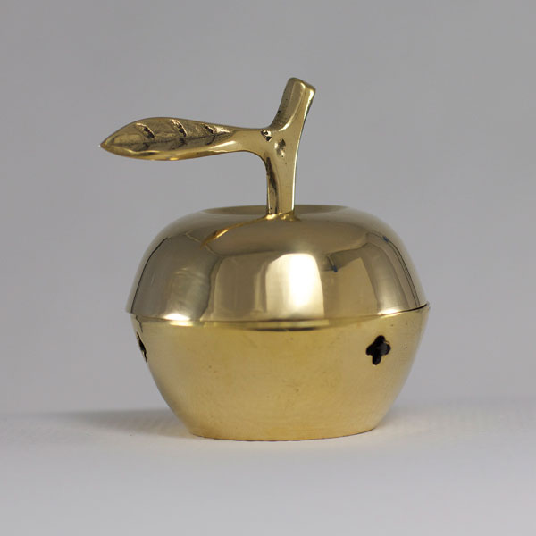 Apple Shaped Brass Box