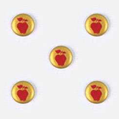 Apple on Gold Button Covers