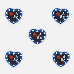 ABC Heart Button Covers